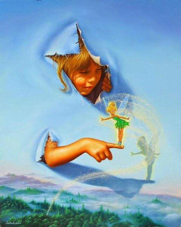 Fazendo Amigos - Jim Warren pinta sonhos e ilusões de maneira fantástica.