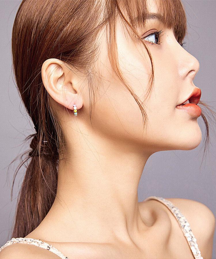 繽紛愛心 925純銀耳環