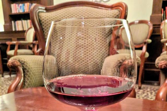 Armchair and Slovak wine in Bratislava