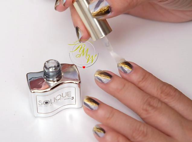 a photo of Solique x Agoo's Holiday Nail Art Tutorial by Nikki Tiu