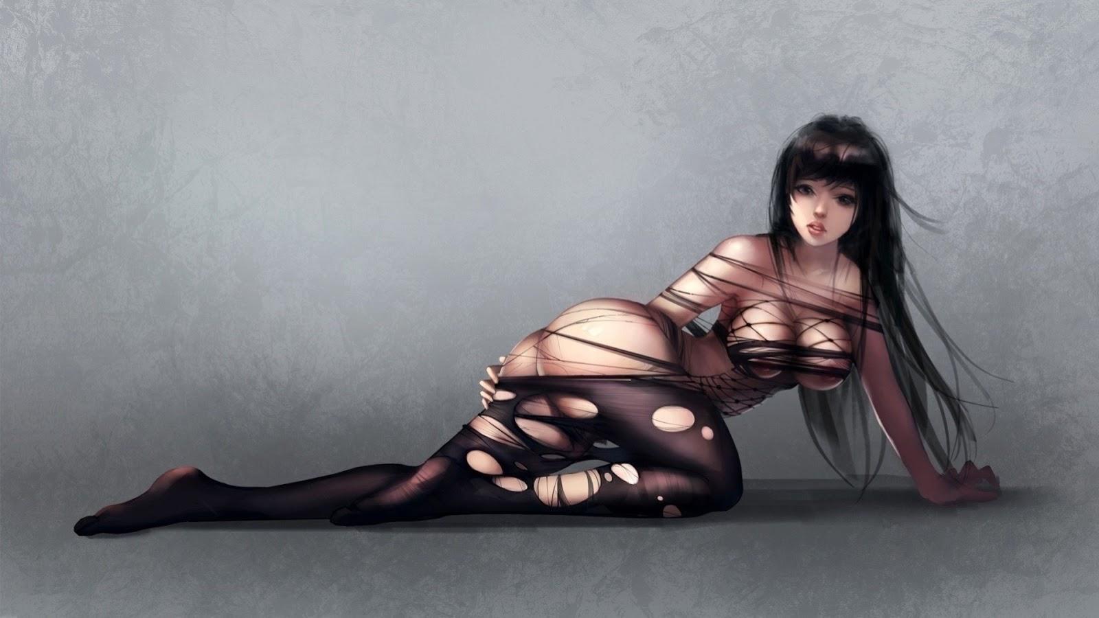 wallpaper, sexy wallpaper, anime, girl, lingerie