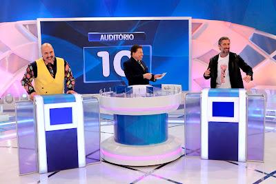Tiago, Silvio e Mion (Crédito: Lourival Ribeiro/SBT)