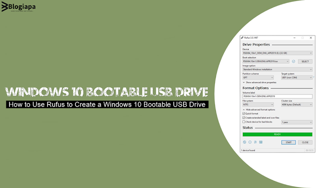 windows 10 bootable usb drive