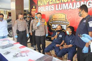 Polres Lumajang Berhasil Bekuk 2 Pelaku Spesialis Ranmor Antar Kabupaten