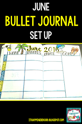 June Bullet Journal Set Up!