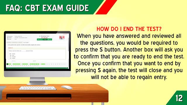 HOW DO I END THE TEST?
