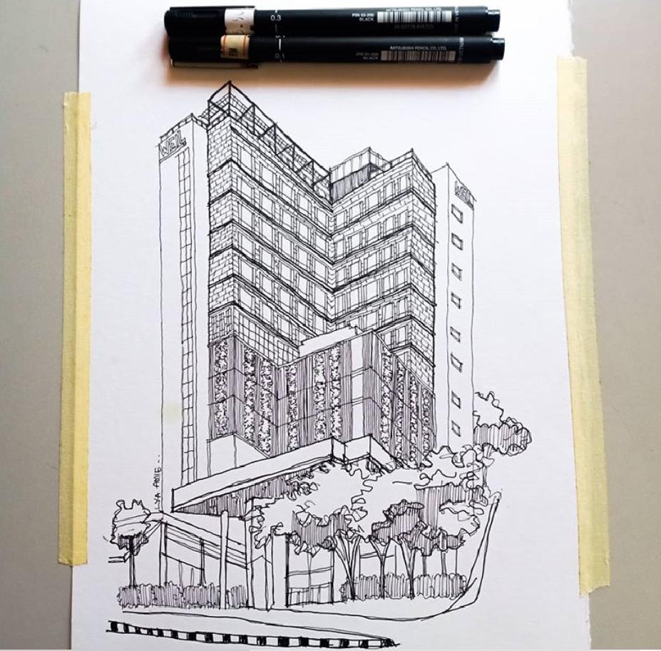 Sketch : A Lion & Weil Hotel, Ipoh