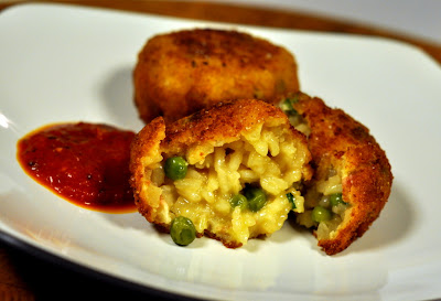 Pea and Prosciutto Arancini - Photo by Taste As You Go