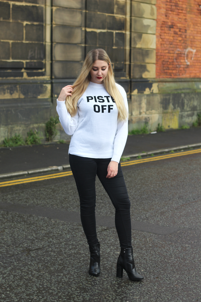 how to wear christmas jumper fashion blog