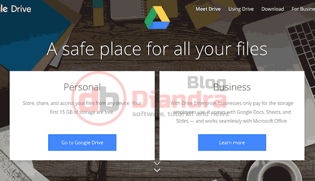 we can see the home page of google drive
