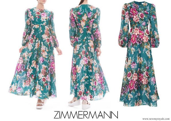 Princess Beatrice wore ZIMMERMANN Allia floral linen midi dress