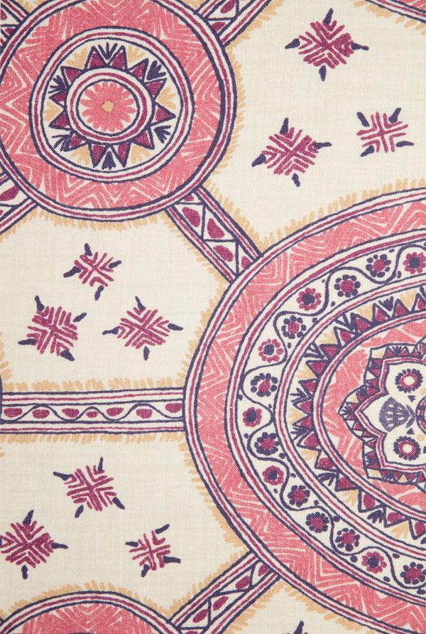 Schuyler Samperton Textiles, design: Nellcote petunia