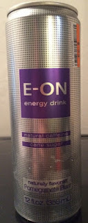 A can of E-on Pomegranate Blast Energy Drink, from Big Lots