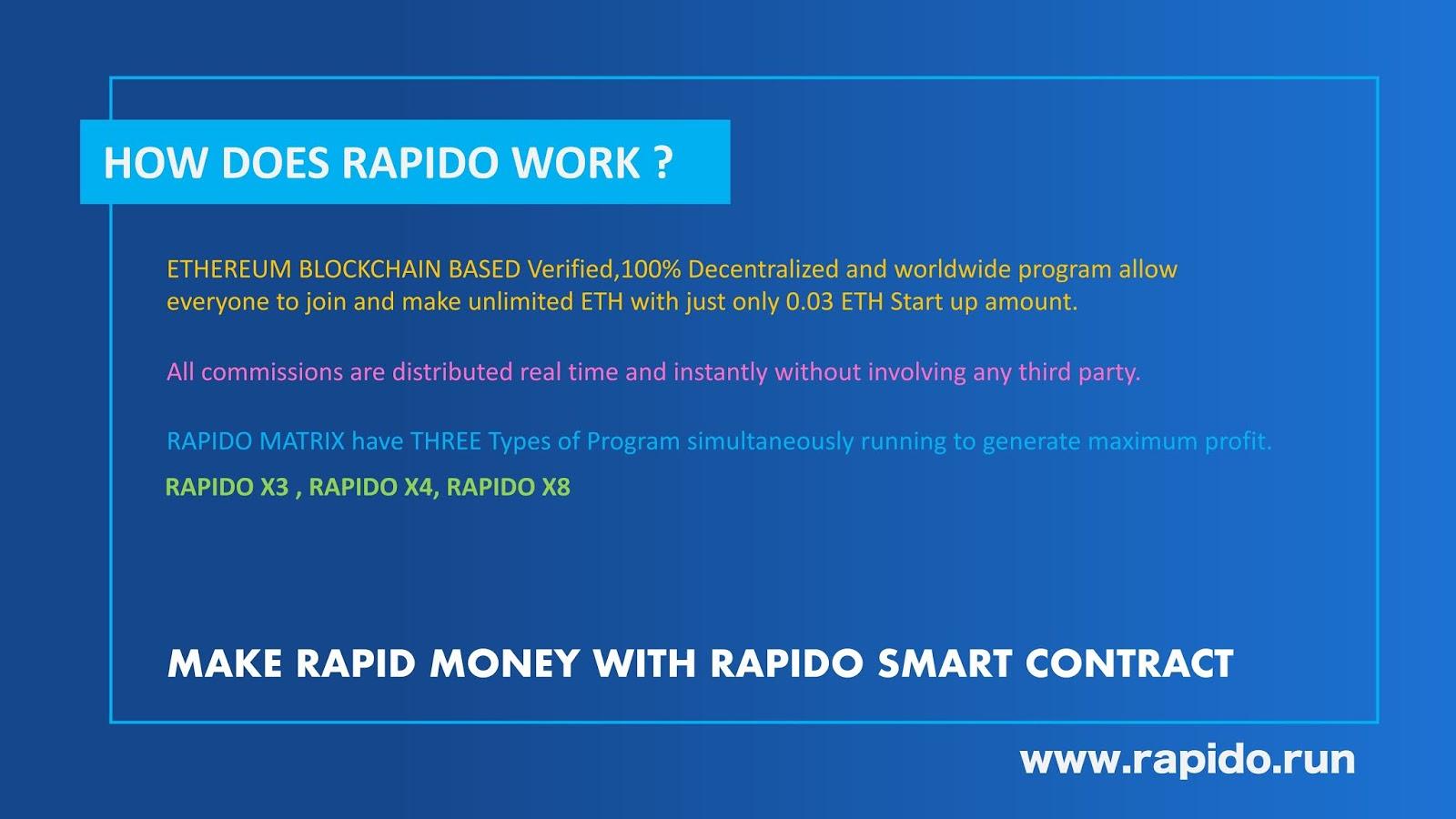 How Rapido run smart contract works