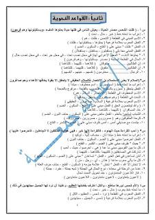 ليلة امتحان اللغه العربيه للصف الثاني الإعدادي ترم اول للأستاذ عبدالله جمعه