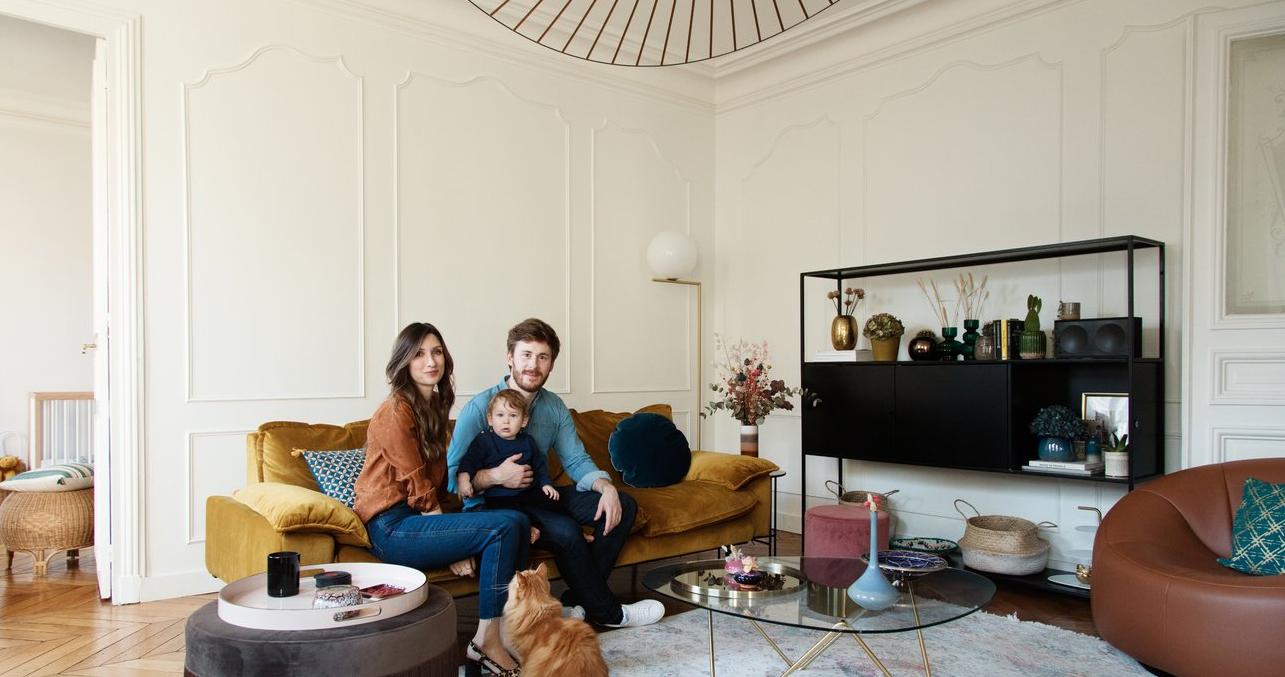 Skandynawskie deteale we francuskim domu