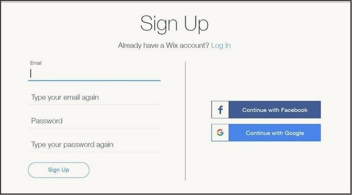 انشاء موقع مجاني wix