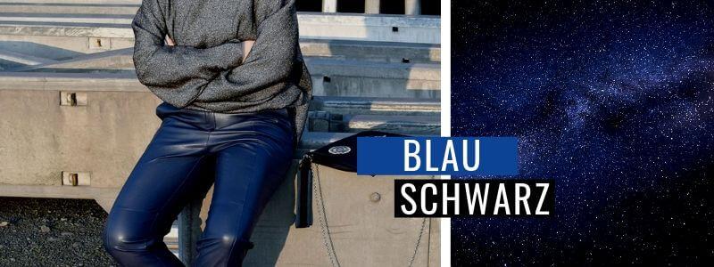 Blau-kombinieren-Schwarz-Outfit