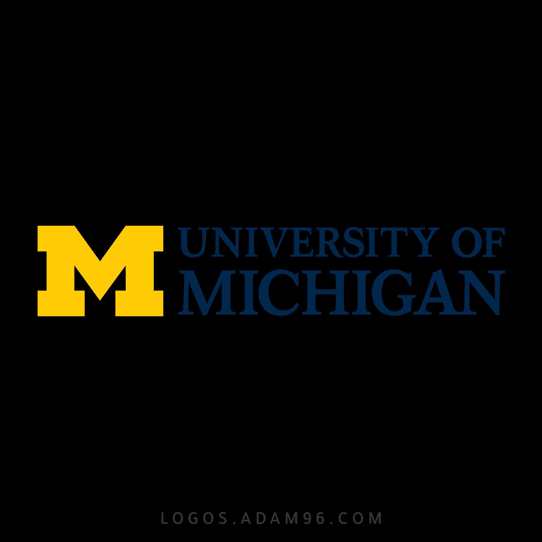 تحميل شعار جامعة ميشيغان لوجو شفاف Logo University of Michigan PNG