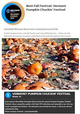 Best Fall Festival: Vermont Pumpkin Chuckin' Festival