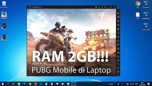 Laptop dengan RAM 2GB pun bisa main PUBG Mobile, walaupun...