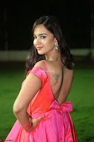 Actress Pujita Ponnada in beautiful red dress at Darshakudu music launch ~ Celebrities Galleries 076.JPG