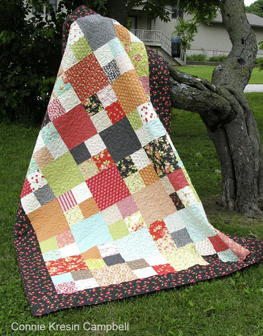 Checkmate Quilt Free Pattern Designed By Connie Kresin Campbell of Freemotion by the River
