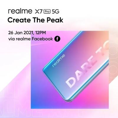 Poster realme x7 Pro dari facebook