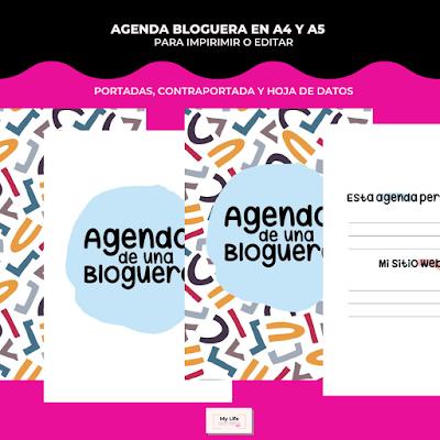 AGENDA, bloguera, 2020, 2021, editar, imprimir