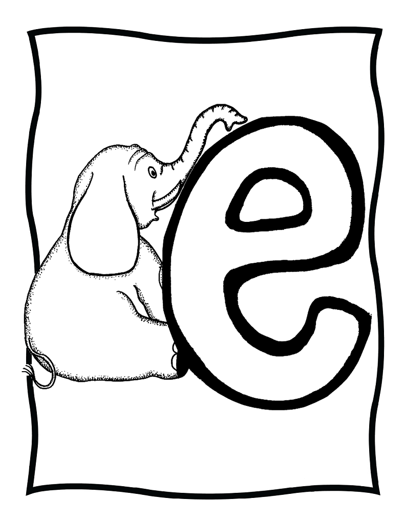 e coloring pages for kids - photo #23