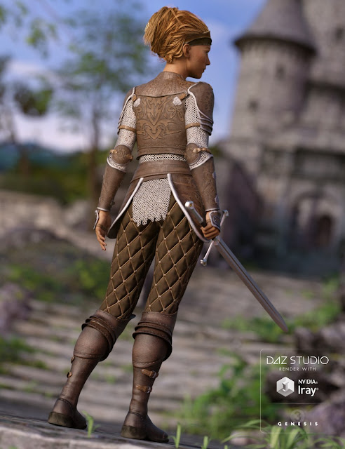 Alicia Armor Outfit for Genesis 3 Female
