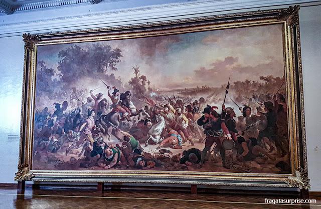 """""""A Batalha dos Guararapes"""", de Victor Meirelles, no Museu Nacional de Belas Artes"""
