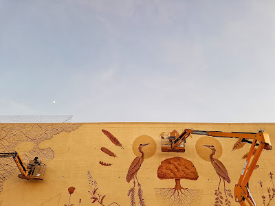 Juzbado, Salamanca, mural de Joaquín Vila y Pablo S. Herrero