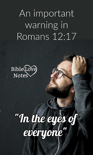 Romans 12 contains a pertinent warning that affects our hearts as well as our witness.
