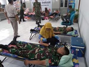 Yonarmed 11 Kostrad Bakti Sosial Donor Darah HUT Ke-56 Bank Jateng