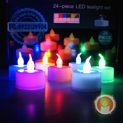 Nến điện tử đổi màu