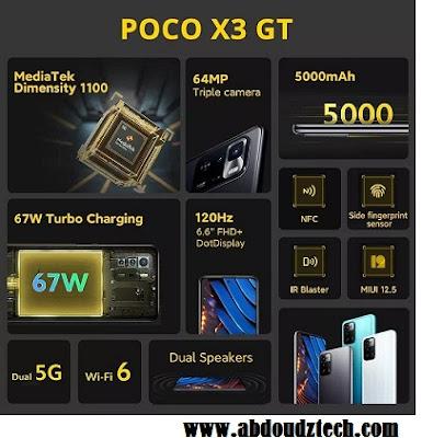 Poco X3 GT مواصفات