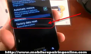 factory totally reset Wipe data remove password