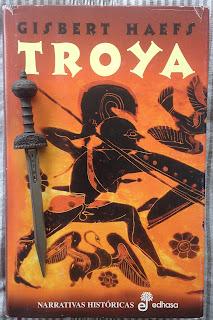 Portada del libro Troya, de Gisbert Haefs