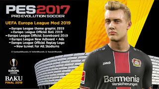 PES 2017 UEFA Europa League Mod 2018/2019