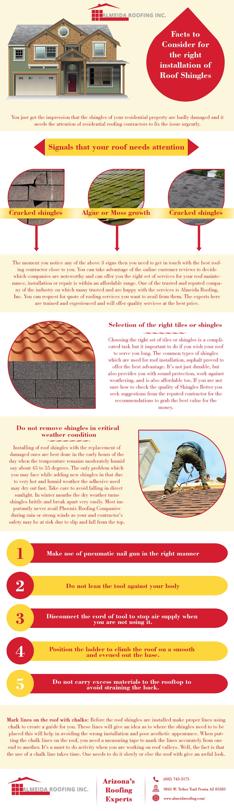Facts To Consider For The Right Installation Of Roof Shingles #infographic #Home Improvement #infographic #Installation Of Roof Shingles