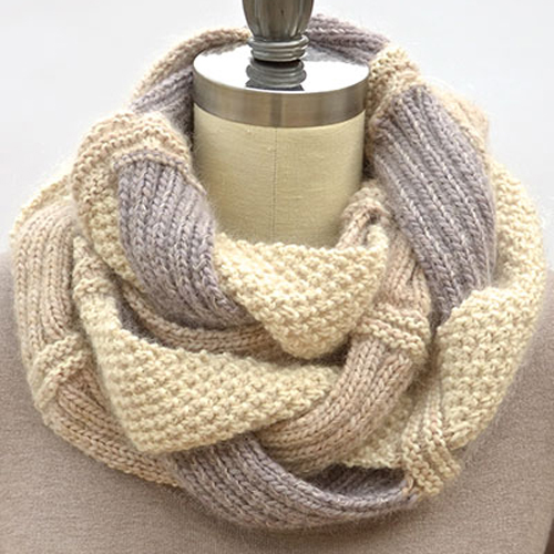 Challah Infinity Scarf Knit Pattern