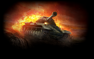 World of Tanks Tank in Fire HD Game Wallpaper