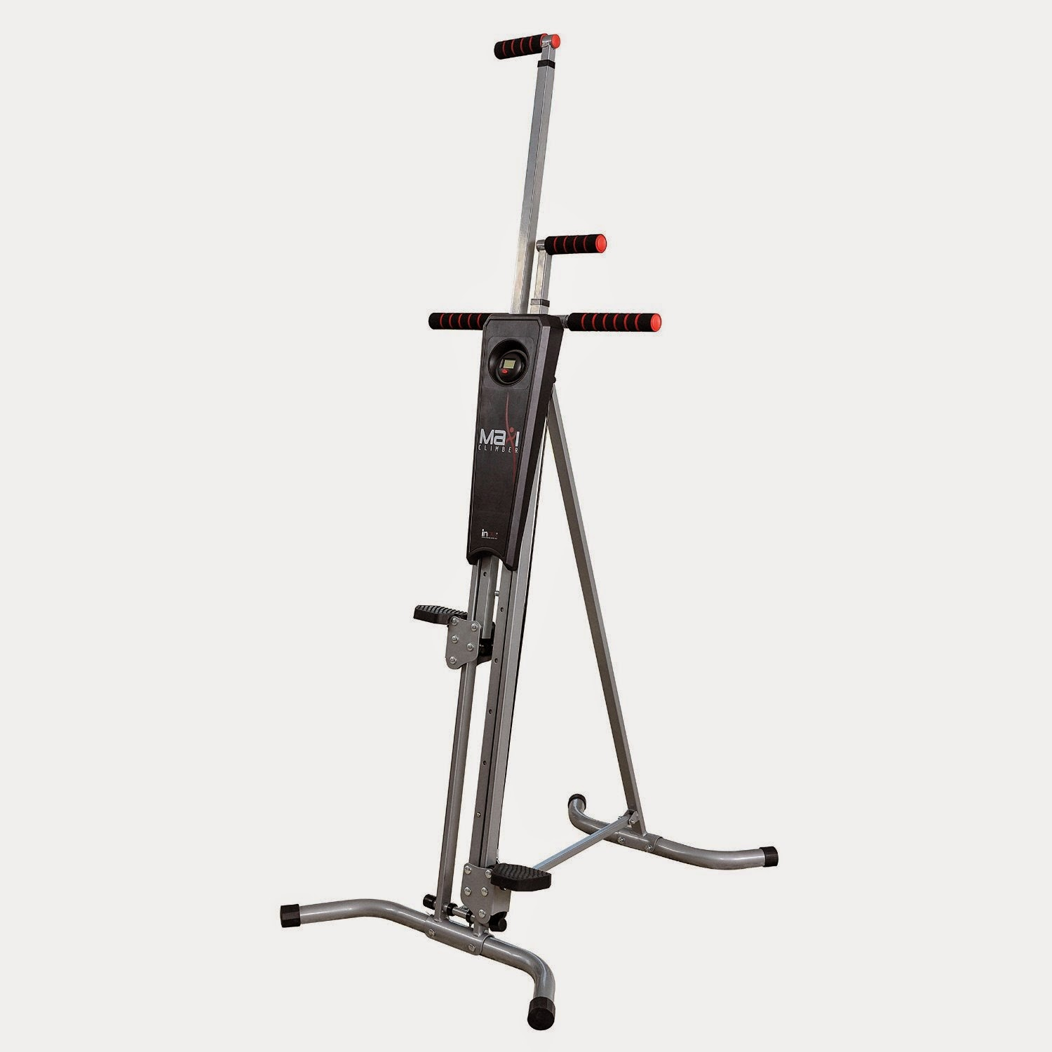 Maxi Climber Vertical Climber, review, sculpt and tone your legs, abs, triceps, biceps, targets all major muscle groups, workout similar to rock climbing, ergonomically designed and adjustable, folds for storage
