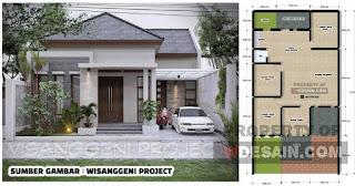 Gambar Tampak Depan Rumah Minimalis 1 Lantai Desain Rumah Minimalis