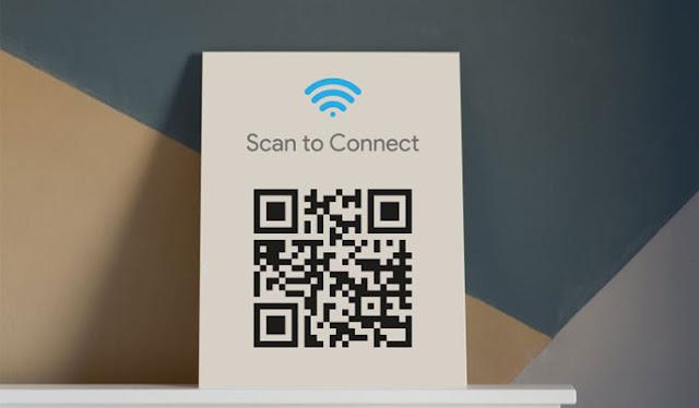Skenirajte QR kod za wifi šifru