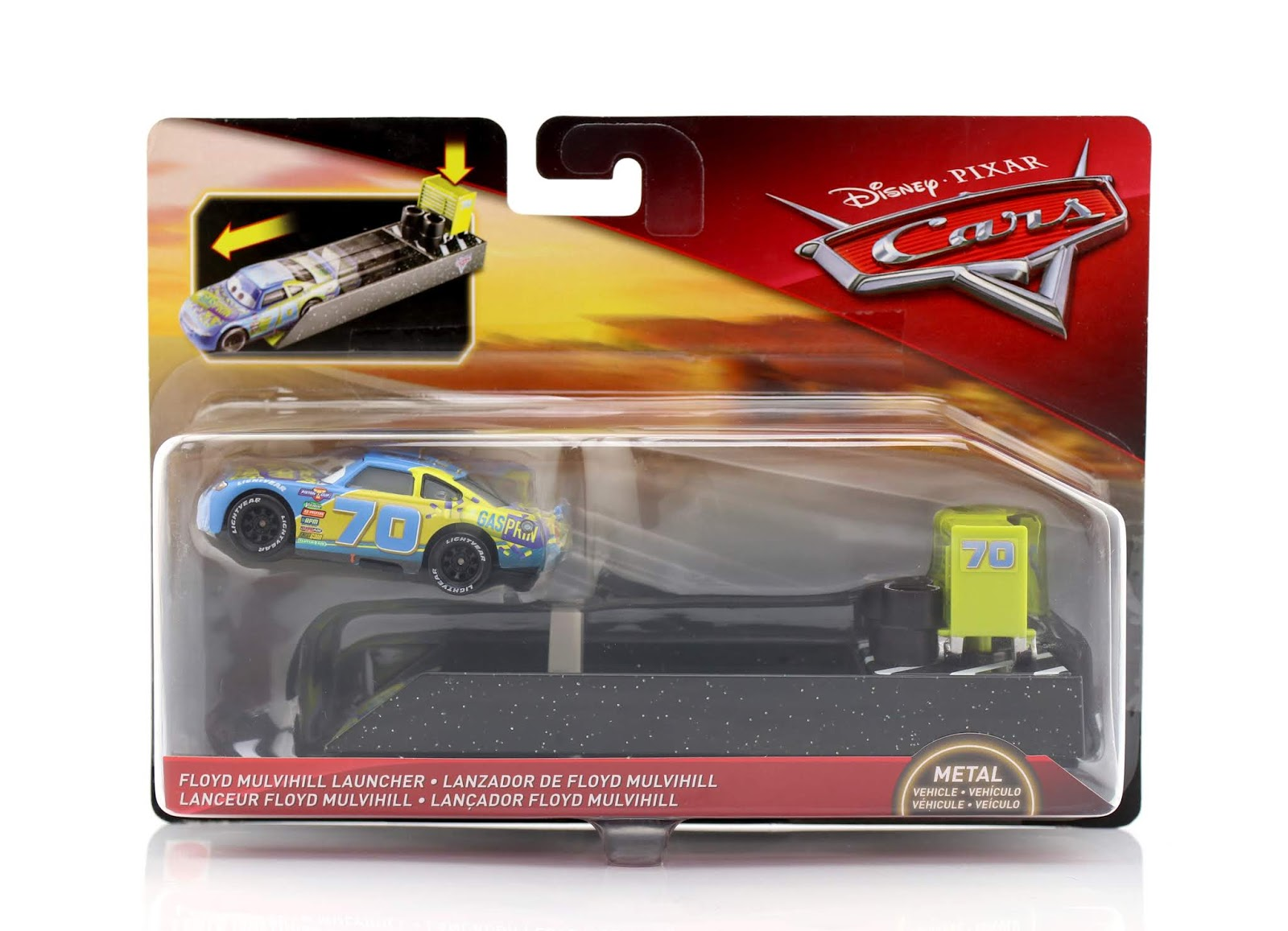 Cars 3 Floyd Mulvihill (with Launcher) diecast