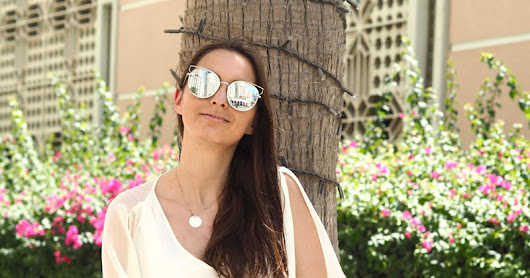 OUTFIT // ZARA SUMMER DRESS W/ ZAFUL SUNGLASSES