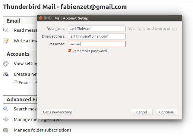 Configure ThunderBird Mail ubuntu