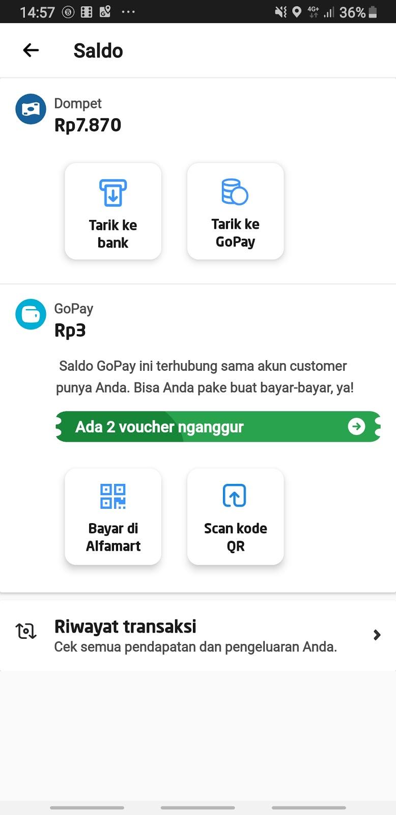 Gojek Driver V 4 10 1 Fitur Transfer Gopay Driver Ke Gopay Customer Pribadi